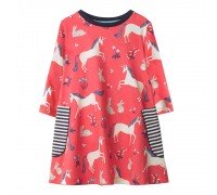 Платье для девочки Единорог и кролик