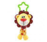 Мягкая подвеска - погремушка Лев