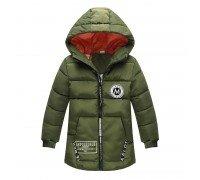 Куртка удлиненная демисезонная для девочки Лондон, темно-зеленый