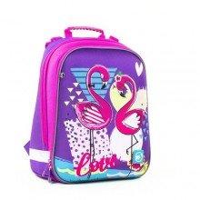 Рюкзак школьный каркасный Flamingo