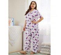Пижама женская Purple dino