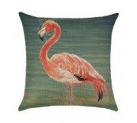 Подушка декоративная Фламинго в воде 45 х 45 см