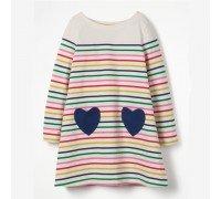 Платье для девочки Два сердца
