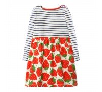 Платье для девочки Strawberry with sleeves