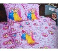 Комплект детское постельное белье полуторка Принцессы Тиротекс