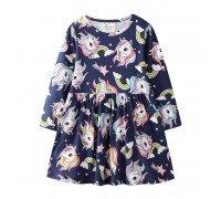 Платье для девочки Разноцветные единороги